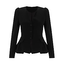Buy Somerset by Alice Temperley Peplum Jacket, Black Online at johnlewis.com