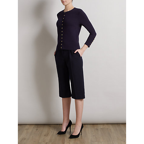 Buy Somerset by Alice Temperley Button Detailed Cardigan, Navy Online at johnlewis.com