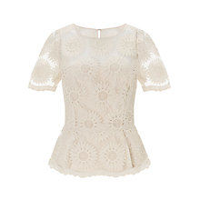 Buy Somerset by Alice Temperley Organza Peplum Top Online at johnlewis.com