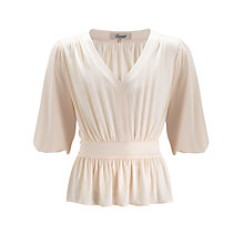 Buy Somerset by Alice Temperley Wrap Over Jersey Top, Cream Online at johnlewis.com