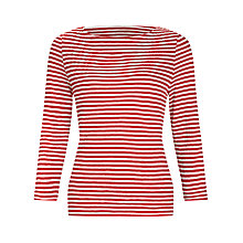 Buy COLLECTION by John Lewis Mia 3/4 Length Striped Sleeve Top Online at johnlewis.com