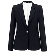 Buy COLLECTION by John Lewis Francesca One Button Blazer, Navy Online at johnlewis.com