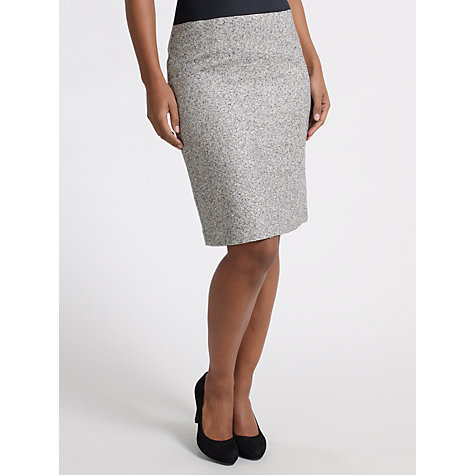 Buy COLLECTION by John Lewis Roxanna Tweed Skirt, Navy Online at johnlewis.com