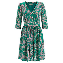 Buy Somerset by Alice Temperley Palm Print Dress, Green Online at johnlewis.com