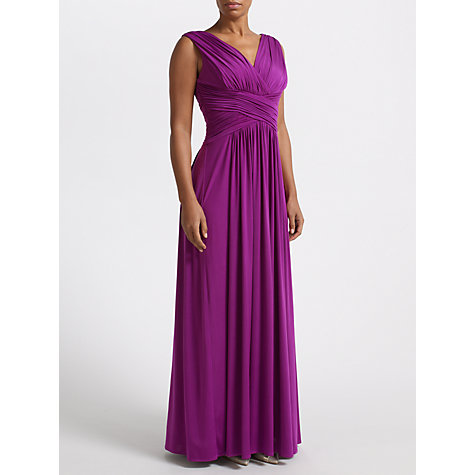 Buy John Lewis Frances Jersey Maxi Dress, Deep Grape Online at johnlewis.com