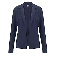 Buy Kin by John Lewis Long Sleeved Edge to Edge Blazer, Navy Online at johnlewis.com