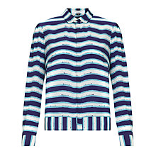 Buy COLLECTION by John Lewis Annabella Blouse, Blue/White Online at johnlewis.com