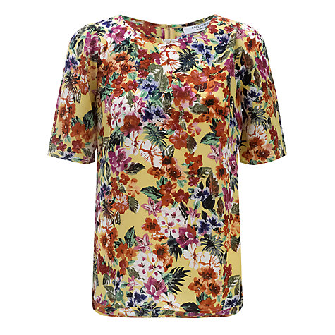 Buy COLLECTION by John Lewis Anabelle Floral Top, Yellow Online at johnlewis.com