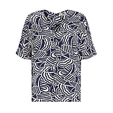 Buy Kin by John Lewis Short Sleeved Printed V-Front/Back Top Online at johnlewis.com