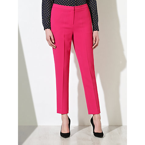 Buy COLLECTION by John Lewis Sadie Crepe Trousers, Flamingo Online at johnlewis.com