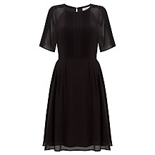 Buy Somerset by Alice Temperley Pintuck Silk Dress, Black Online at johnlewis.com
