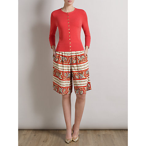 Buy Somerset by Alice Temperley Button Detailed Cardigan, Watermelon Online at johnlewis.com