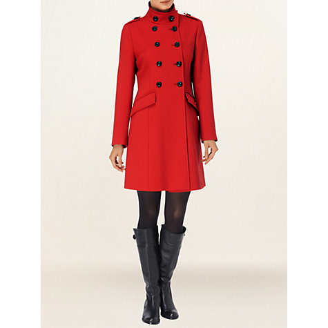 Buy Phase Eight Chelsey Crepe Coat, Red Online at johnlewis.com