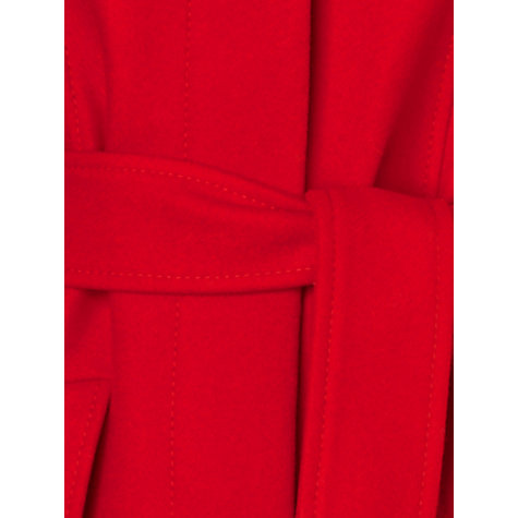 Buy Phase Eight Leila Luxe Collar Coat, Red Online at johnlewis.com