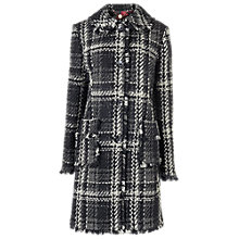 Buy Phase Eight Katy Checked Coat, Black Online at johnlewis.com