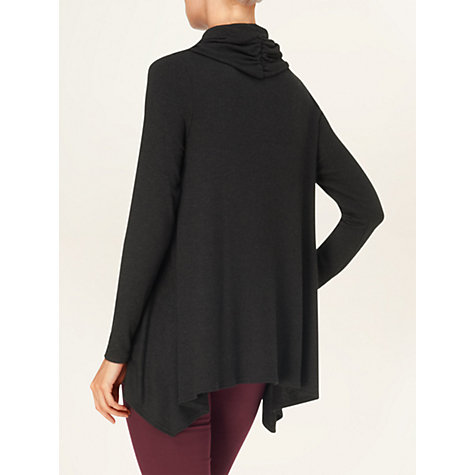Buy Phase Eight Nora Roll Neck Top, Charcoal Online at johnlewis.com