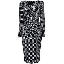 Buy Phase Eight Textured Spot Side Dress, Black/White Online at johnlewis.com