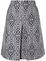 Phase Eight Kitty Skirt, Black/Silver
