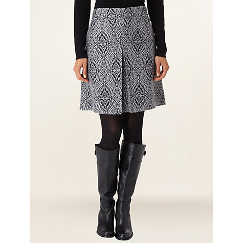 Buy Phase Eight Kitty Skirt, Black/Silver Online at johnlewis.com