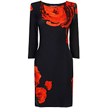 Buy Phase Eight Liliana Tunic Top, Black/Red Online at johnlewis.com