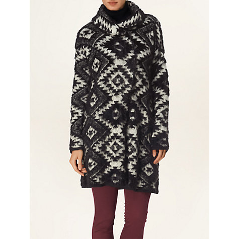 Buy Phase Eight Agnes Aztec Coat, Black Online at johnlewis.com