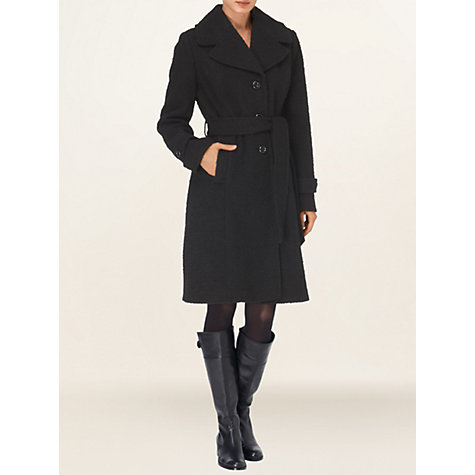 Buy Phase Eight Bessie Boucle Coat, Black Online at johnlewis.com