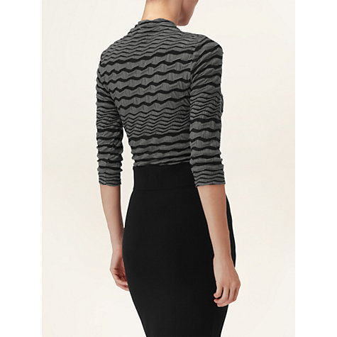 Buy Phase Eight Caris Wrap Top, Black/Grey Online at johnlewis.com