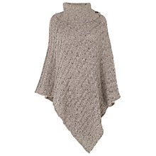 Buy Phase Eight Coral Cable Poncho, Natural Online at johnlewis.com