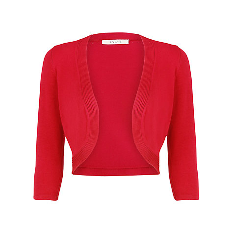 Buy Precis Petite Cable Trim Shrug, Red Online at johnlewis.com