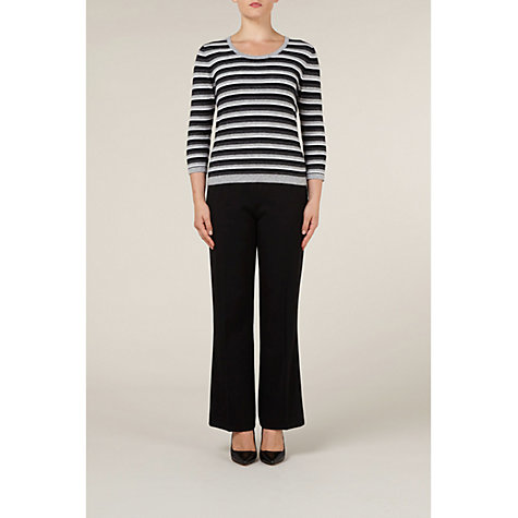 Buy Precis Petite Flannel Trousers, Black Online at johnlewis.com