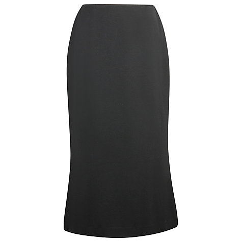 Buy Precis Petite Flannel Skirt, Black Online at johnlewis.com