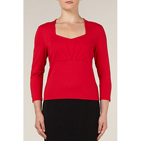 Buy Precis Petite Faux Shrug Top, Red Online at johnlewis.com
