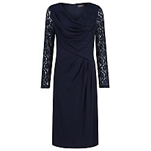 Buy Alexon Lace Sleeve Dress, Blue Online at johnlewis.com