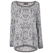 Buy Phase Eight June Jacquard Jumper, Grey/Cream Online at johnlewis.com