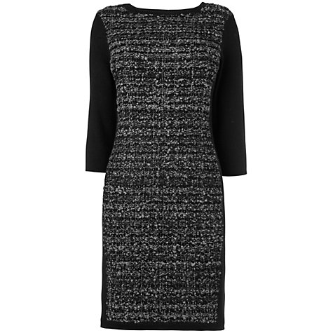 Buy Phase Eight Tess Tweed Knitted Tunic Top, Black Online at johnlewis.com