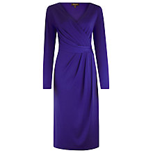 Buy Alexon Drape Front Dress, Purple Online at johnlewis.com