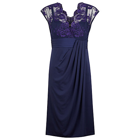 Buy Alexon Twilight Lace Dress, Blue Online at johnlewis.com
