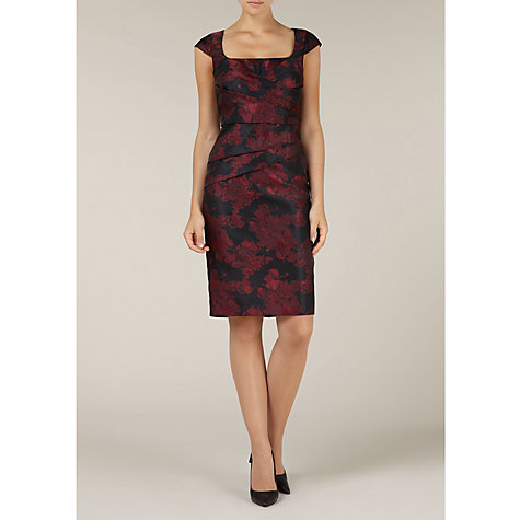 Buy Alexon Jacquard Wrap Dress, Red Online at johnlewis.com