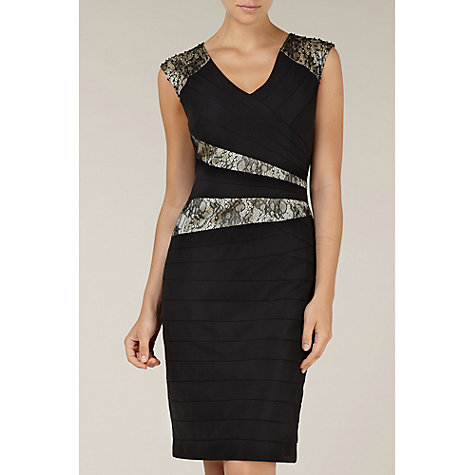 Buy Alexon Lace Jewel Dress, Black Online at johnlewis.com