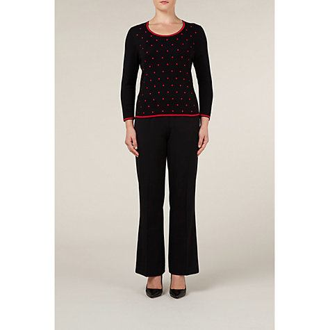 Buy Precis Petite Embroidered Spot Jumper, Blue Online at johnlewis.com