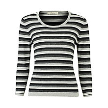 Buy Precis Petite Stripe Jumper, Grey Online at johnlewis.com
