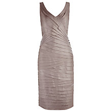 Buy Alexon Shimmer Shutter Dress, Gold Online at johnlewis.com