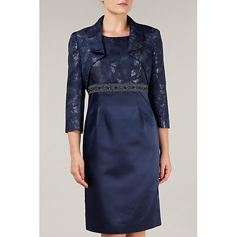 Buy Precis Petite Jacquard Bolero, Blue Online at johnlewis.com