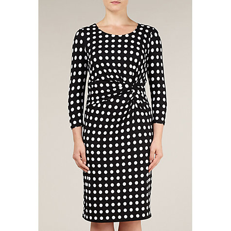 Buy Precis Petite Spot Print Dress, Black Online at johnlewis.com