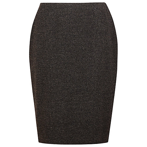 Buy Precis Petite Boucle Skirt, Brown Online at johnlewis.com