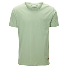 Buy Selected Homme Dave O-Neck T-Shirt, Blue Wing Teal Online at johnlewis.com