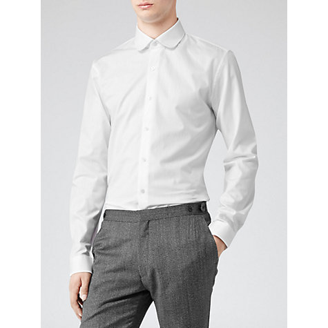 Buy Reiss Lucia Penny Collar Shirt, White Online at johnlewis.com
