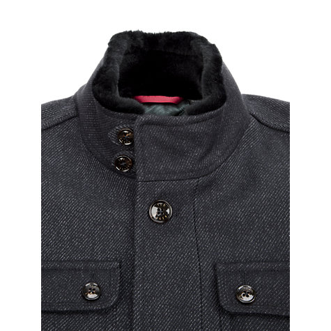 Buy Ted Baker Wool Lamtwin Coat, Navy Online at johnlewis.com