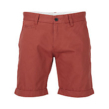 Buy Selected Homme Three Paris Cotton Chino Shorts, Washed Cinnabar Online at johnlewis.com