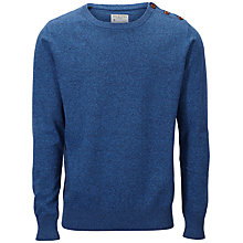 Buy Selected Homme Nevada Crew Neck Cotton Jumper, Blue Wing Teal Online at johnlewis.com